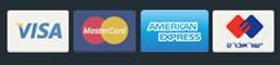 לוגו תחתון וכרטיסי אשראי